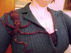 Ravelry: Demi Octopus pattern by Jennifer Wang If I could make this I would put it on a scarf.