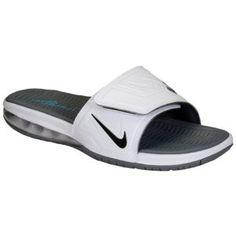Nike Air LeBron Slide 3 Elite - Men's - White/Cool Grey/Vivid Blue/Black