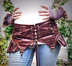 Sh Sh Shes So Shameless Steampunk Mini Garter Belt by CurvyWench, $72.00