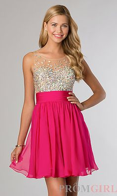 Short Sleeveless JVN by Jovani Dress at PromGirl.com