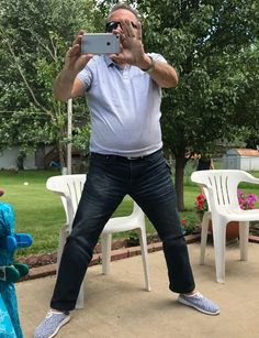 My dad's power stance while trying to snap a quick picture. Happy Fathers Day!