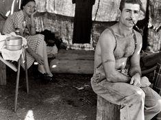 Depression-era portrait of a working-class couple.
