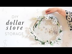 DOLLAR STORE DIY BATHROOM STORAGE  | THE SORRY GIRLS - YouTube. Saving this for the earring holder