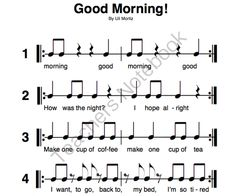 Good Morning and This is My Chair - Orff from Solo Time Music Games on TeachersNotebook.com -  (2 pages)