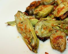 Parmesan Crusted Baby Artichokes