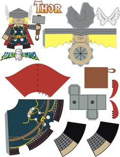 It's a Thor 3-D paper model (free printable). Looks pretty cool! #Thor #FreePrintable
