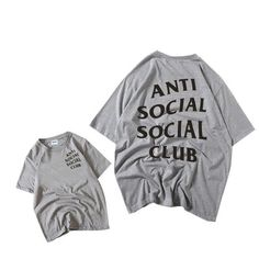 EINAUDI Euro Size,Anti Social Social Club T shirt Hip Hop Swag T-shirt Men and Women Clothing Fashion Tees,GT288