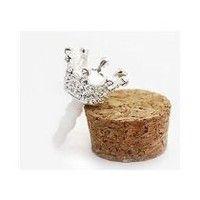 My Associates Store - Diamond Crown Earphone Jack Dock Plug Ear Cap Anti-dust Plug Stopper for i phone 5 White