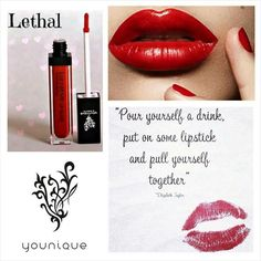 Younique Lipglosses have a mirror on the side, perfect for last minute touch ups. Naturally based products. Visit my website to order yours today. www.youniqueproducts.com/JamiEvans
