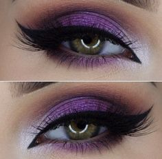Take a look at the best purple wedding makeup in the photos below and get ideas for your wedding! Maquillage – Make up Image source LOVE this one – the drama and the shimmer and the PURPLE! Purple Wedding Makeup, Purple Eye Makeup, Smokey Eye Makeup, Skin Makeup, Purple Makeup Looks, Purple Eyeshadow Looks, Smokey Eyeshadow, Shimmer Eyeshadow, Glitter Makeup