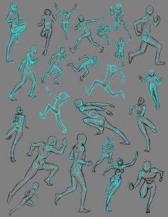 Running Poses by *THEAltimate on deviantART