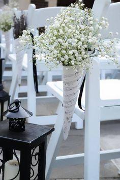 Detalhe para decoração de um casamento
