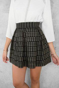 Garland Metallic Bandage Skirt