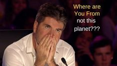 Simon don't think he is from this planet......