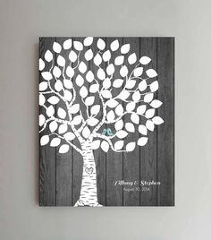 75 Guest Wedding Guest Book Rustic Wood Wedding by ThePrintCafe, $38.00