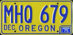 License plate 1975
