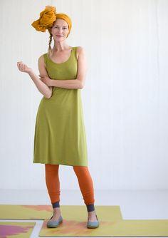 Leggings i mikromodal/elastan – Bukser – GUDRUN SJÖDÉN –  i orange, fiol og jade