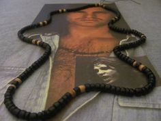Jim Morrison-The Doors/ AUTHENTIC/REPLICA Panther Beaded Necklace/Rare 1968 version.