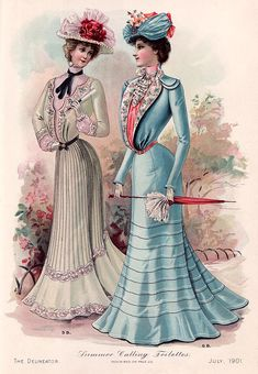Fashion Plate, Summer Calling Toilettes - The Delineator, July 1901