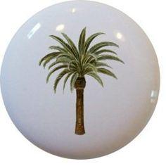 Palm Tree Ceramic Cabinet Drawer Pull Knob by Carolina Hardware and Decor, http://www.amazon.com/dp/B001TXNVO4/ref=cm_sw_r_pi_dp_9.YErb089HRG0