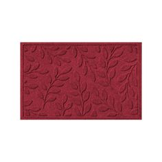WaterGuard Brittany Leaf Indoor Outdoor Mat, Red, 20273551828