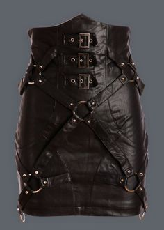 Take it to the edge in this ultrafab vegan leather skirt! This skirt by Punk Rave is made out of vegan black leather and flaunts rocking studded details and buckles. The back of the skirt has beautifu