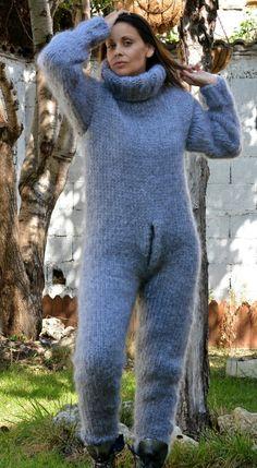 Mohair Cardigan, Chunky Knit Cardigan, Turtleneck Bodysuit, Grey Turtleneck, Catsuit, Gros Pull Mohair, Alpaca, Jumper, Angora
