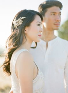 Asymmetrical Statement: http://www.stylemepretty.com/2015/05/13/20-ways-to-rock-long-hair-at-your-wedding/