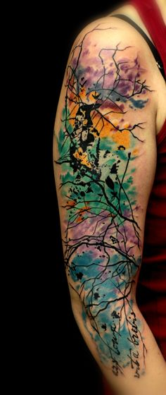 cleanfun abstract tattoo watercolor