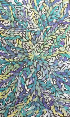 Louise Numina Napananka - Blue and Purple big little leaf, Medicine Leaves Impressionist Paintings, Landscape Paintings, Landscapes, Colors And Emotions, 2d Design, Pointillism, Aboriginal Art, Textures Patterns, Planner Stickers