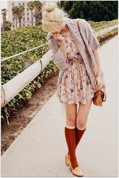 I really hope knee socks are back in style. It feels like 7th grade all over again.