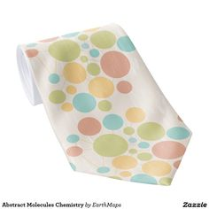 Abstract Molecules Chemistry Tie - Neckties For Science Professionals