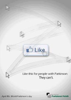 Promouvoir la journée mondiale de lutte contre la maladie de Parkinson avec Facebook..