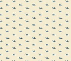 Vintage Birds fabric by rikkib on Spoonflower - custom fabric
