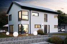 Haus Icon 4 XL - Dennert Massivhaus ➤ Massivhaus mit Satteldach ✔︎ Bilder ✔︎ Grundrisse ✔︎ Preise jetzt ansehen auf HausbauDirekt.de