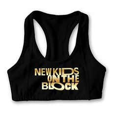 New Kids On The Block Gold Logo Womens Oxjwn Yoga Sports Bra *** Check this awesome product by going to the link at the image.