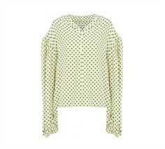 BALENCIAGA POLKA DOT SWING COLLAR BLOUSE