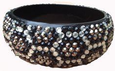 "Amazon.com: Leopard Animal Print Crystal & Rhinestone Open Bangle 1 1/8"" Wide & Lightweight by Jersey Bling: Jewelry"