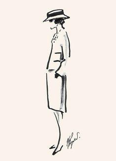 . Croquis Drawing, Gesture Drawing, Fashion Moda, Cartoon Styles, Coco Chanel, Karl Lagerfeld, Line Art, Illustrators, Drawings
