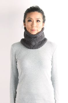 knitted neckwarmerNeck warmer unisex neckwarmer knit by VONANA