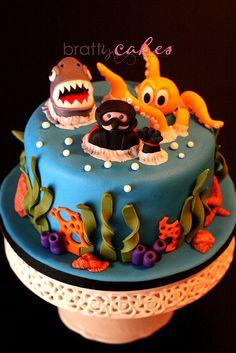 Scuba Cake by Natty-Cakes (Natalie), via Flickr