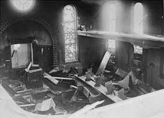 View of the destroyed interior of the Hechingen synagogue the day after Kristallnacht. Broken Window, Broken Glass, Polish Jews, Joseph Goebbels, Never Again, Holy Family, Europe, Sagrada Familia