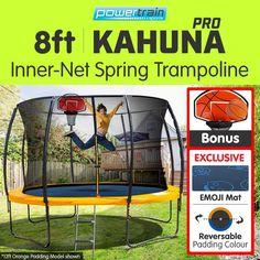 Kahuna Reversible 8ft Trampoline w/ Basketball Set | Buy 8ft Trampoline