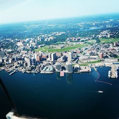Aerial Instagram photo of Halifax, Nova Scotia.... you can see the curve of the world