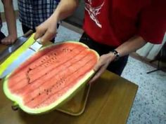brilliant way of preparing water mellons