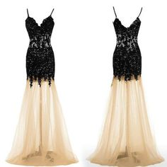 Backless prom dresses, black lace prom dresses, mermaid prom dresses, see through prom dresses, sexy prom dresses, prom dresses 2016 , 2710352
