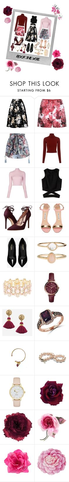 """3 outfits 👚👗👘"" by charlottedevuyssere ❤ liked on Polyvore featuring Polaroid, Moncler Gamme Rouge, Zimmermann, A.L.C., Massimo Matteo, Manolo Blahnik, Yves Saint Laurent, Accessorize, Charlotte Russe and FOSSIL"