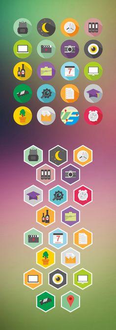 Icon Design by Mohammad Rikza , via Behance