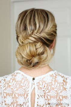 fishtail-french-braid-low-bun-hairstyle-tutorial