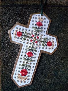 Crowning Cross Bookmark or Ornament